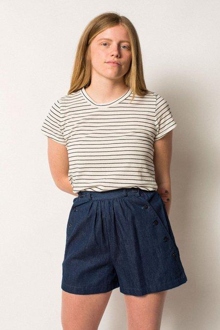 Preservation Vintage High-Rise Sailor Inspired Shorts