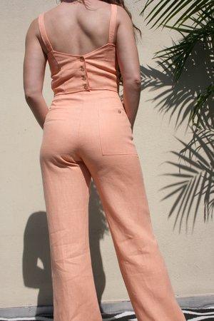 PALOMA WOOL Jaja Linen Top - Peach