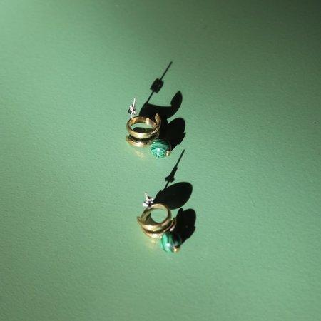 LL, LLC Tumbaga Earrings - Malachite