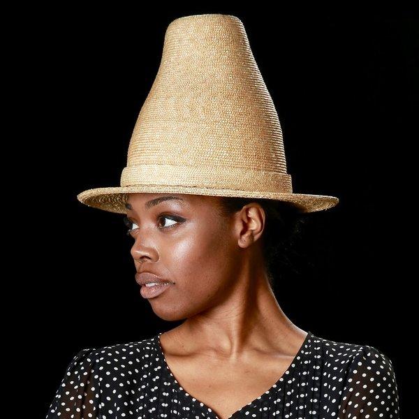 Esenshel Stove Pipe Oval Brim Hat