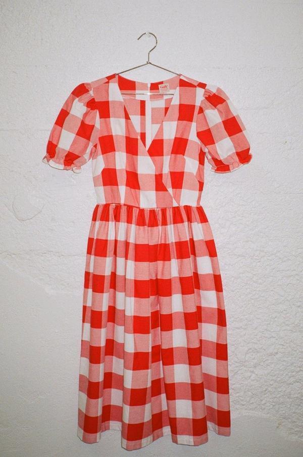 Lisa Says Gah Topanga Dress - Red Gingham