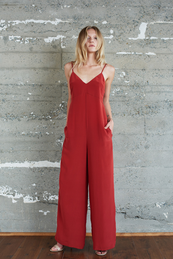 Kamperett Ride Silk Jumpsuit | Rust