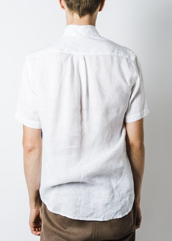 Gitman Bros. VINTAGE LINEN SHIRT - WHITE