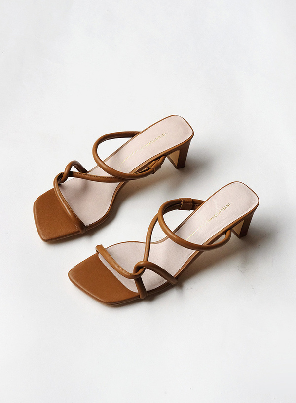 """""""INTENTIONALLY __________."""" Willow Cross Strap - Toffee"""