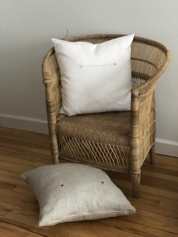 STUDIO MINIMALE Linen Pillow - Light Oatmeal