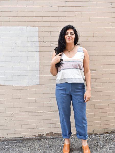 Iris Denim Borderline Pants - Blue
