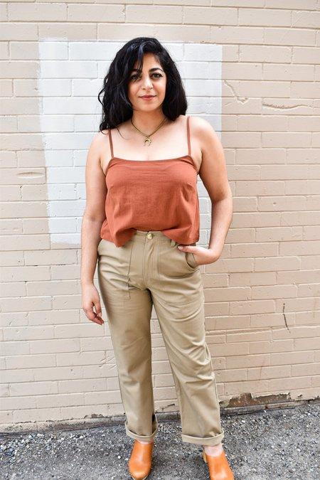 Iris Denim Borderline Pants - Khaki