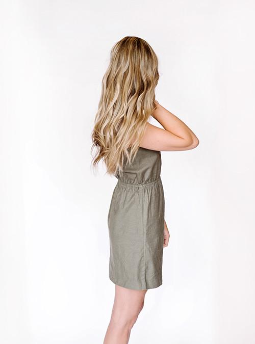 Bridge & Burn Fleer Olive Dress