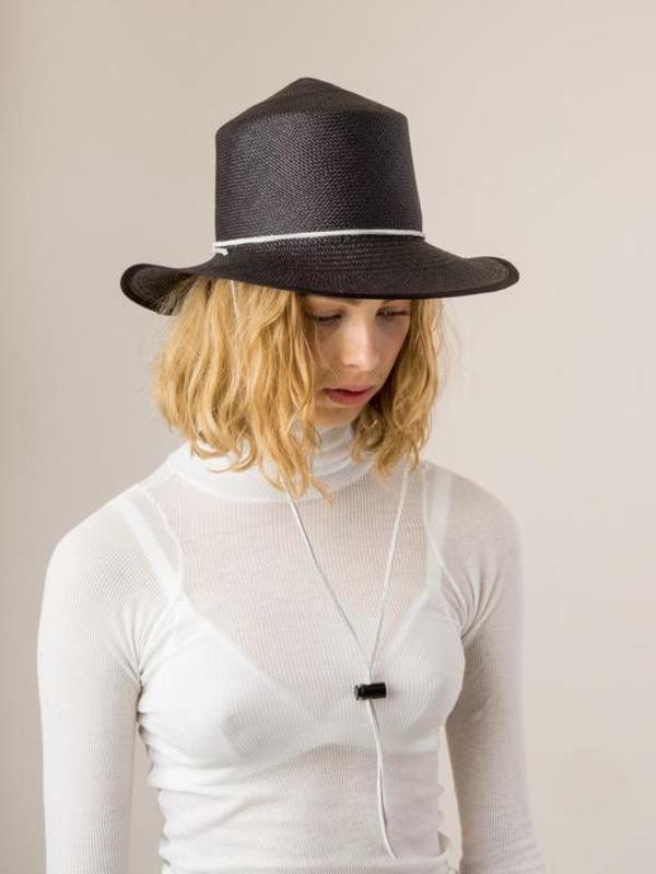 Unisex Brookes Boswell Heather Straw Hat - black