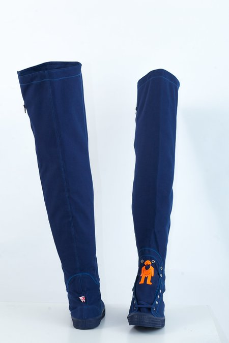 Walter Van Beirendonck W Thigh-High Sneakers - blue