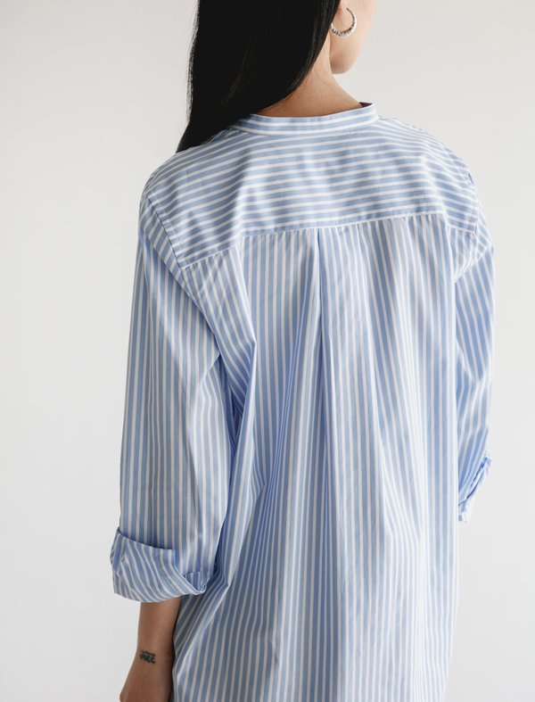 Norse Projects Pella Summer Stripe Shirt - BLUE