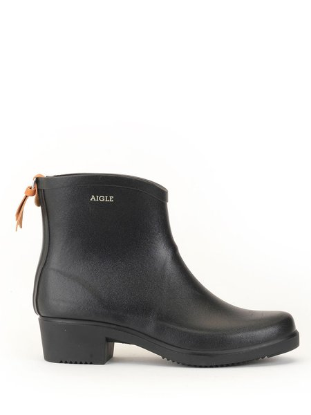 aigle short rain boot - black