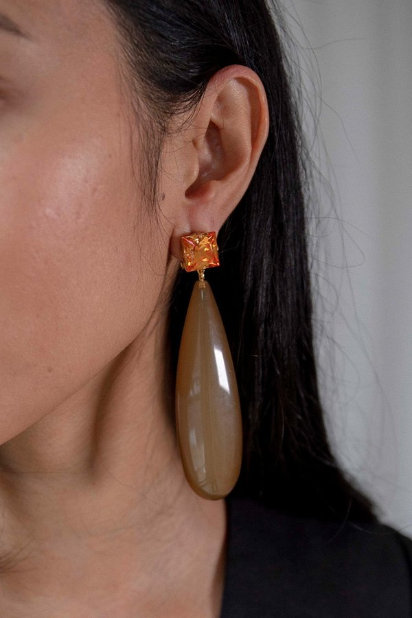 Rachel Comey Camber Earrings - Amber/Brown