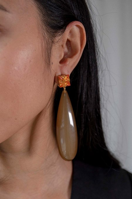 Rachel Comey Camber Earrings - Amber/Brown