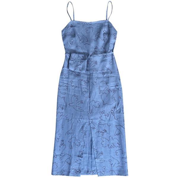 bd300d6780456 Paloma Wool MUSEAO PALOMA DRESS - BLUE PRINT | Garmentory