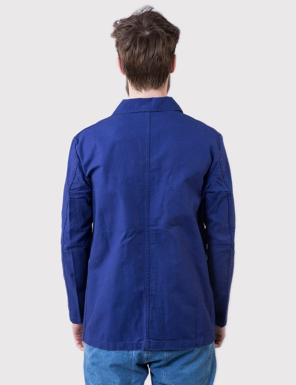 Vetra French Workwear Cotton Drill Jacket  - Hydrone Blue