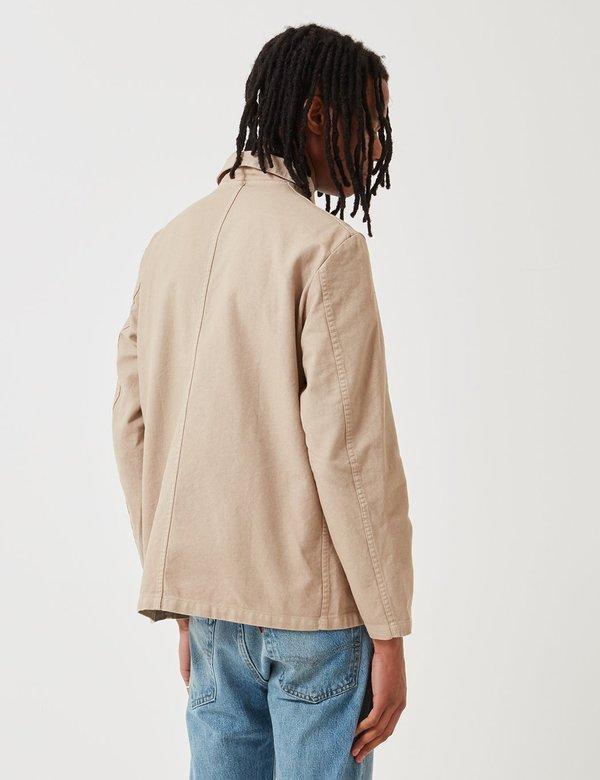 Vetra French Workwear Jacket 5-Short (Dungaree Wash Twill) - Chalk Beige