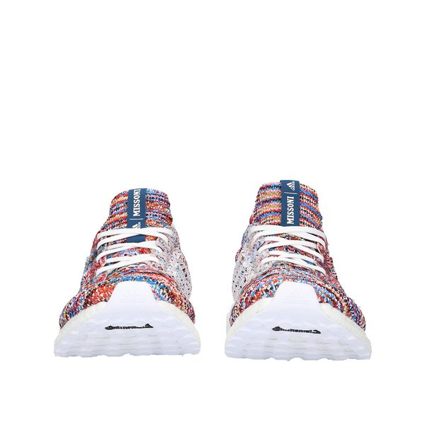 aa4353ddc01c9 Unisex Adidas x Missoni Ultra Boost Clima - White Shock Cyan Active Red.   250.00. Adidas