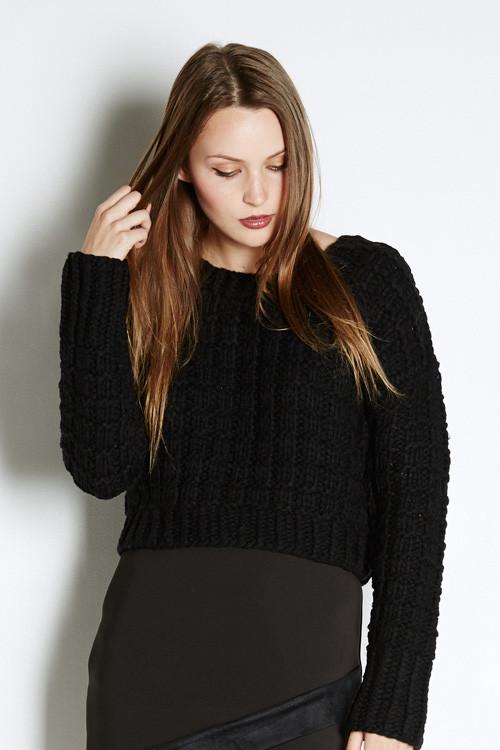 J.O.A. Chunky Cropped Sweater