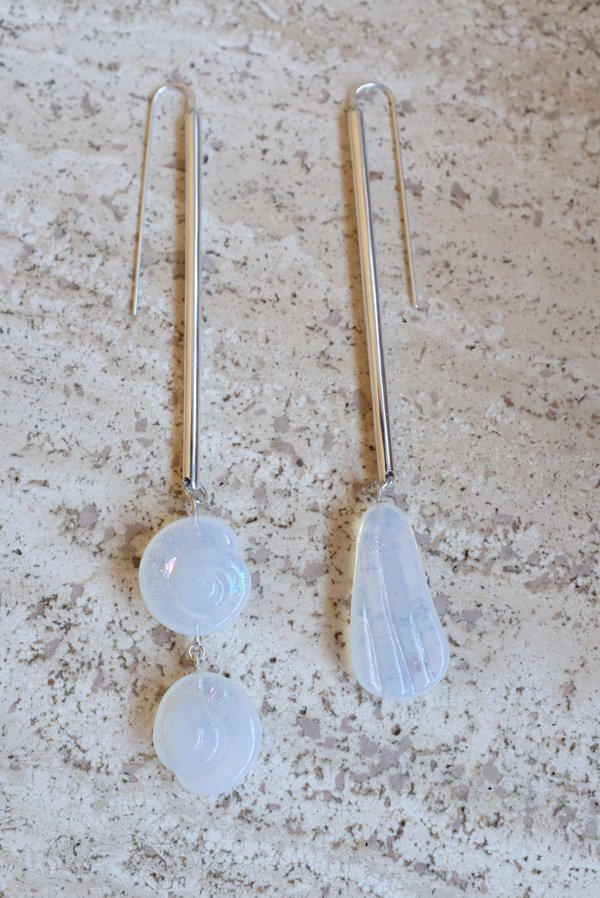 Leigh Miller Shoreline Drops Earrings - Sterling Silver