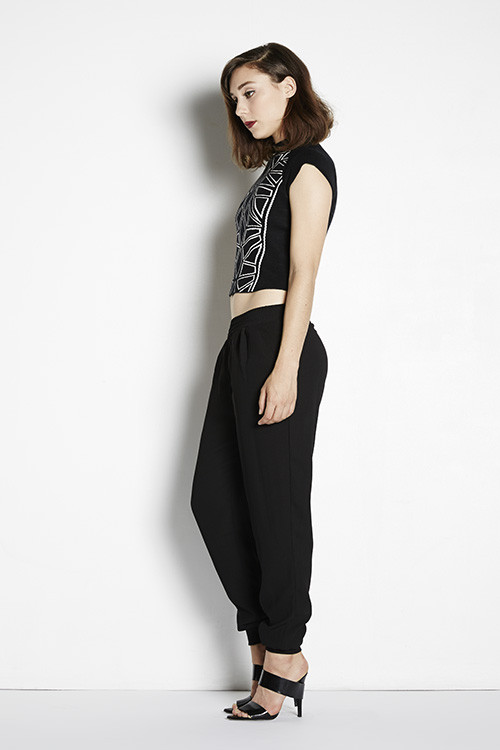 Bless'ed Are The Meek Fractal Crop Top