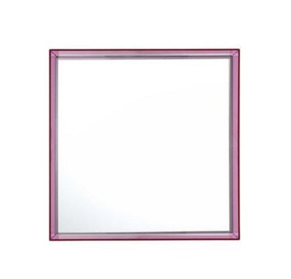 Kartell Only Me Square Mirror - Fuchsia