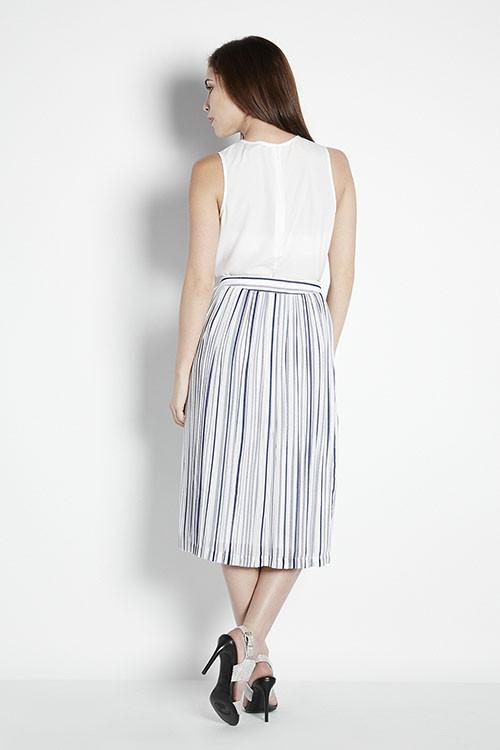 Illusion Striped Skirt
