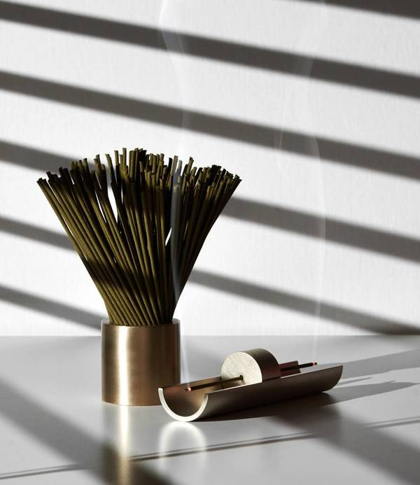 Cinnamon Projects Circa Incense Burner - Brass