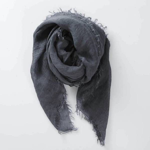Now or Never Linen Scarf - Midnight