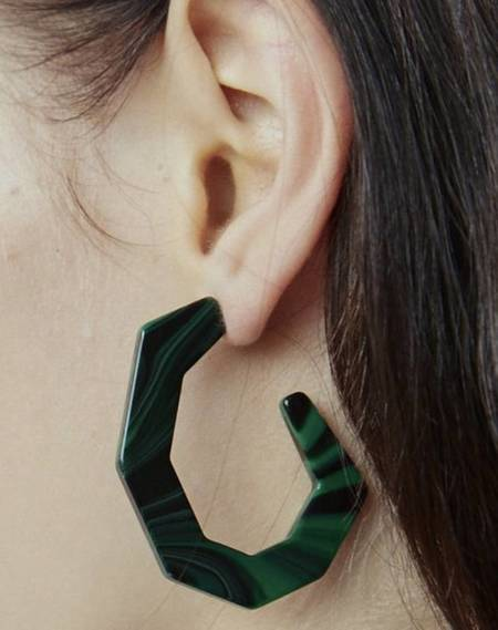 Rachel Comey Baby Factor Earrings - Malachite