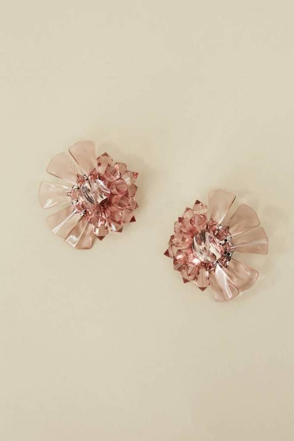 Rachel Comey Marquee Earrings - Clear Pink