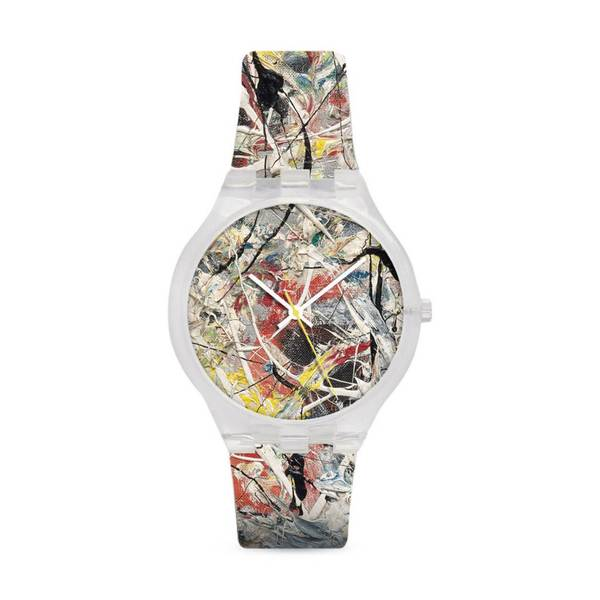 "MoMA Jackson Pollock ""White Light"" Watch"