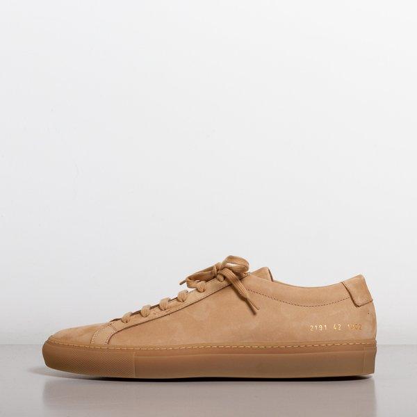 e8d85b6c2efd9d Common Projects Achilles Low Nubuck Sneakers - Tan | Garmentory