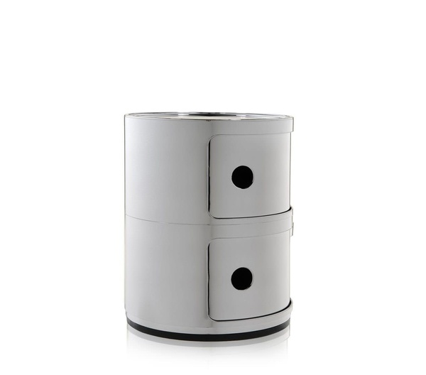 Kartell Componibili 2 drawer tower - Chrome