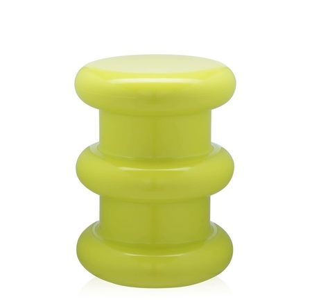 Kartell Pilastro Stool/Side Table - Neon Green