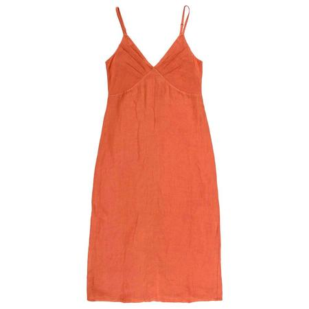 Ali Golden GATHER TOP DRESS - CORAL