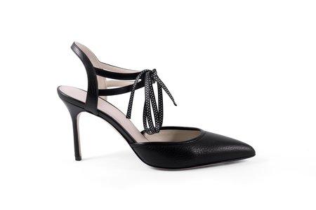 Jessica Bedard Elle Ankle Tie Pump - Black