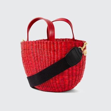 Clare V. Apolline Woven Bucket Bag