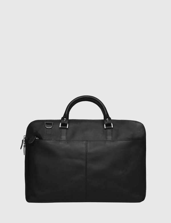 "Sandqvist Dustin Leather Briefcase 13"" - Black"