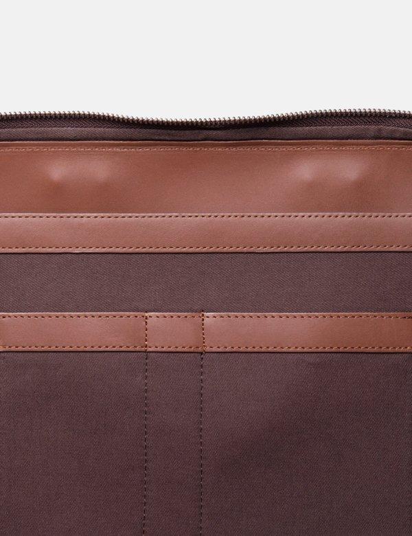 """Sandqvist Leather Myrtel Briefcase 13"""" - Cognac Brown"""