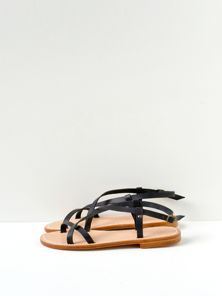 La Botte Gardiane Belle Leather Sandals - Black
