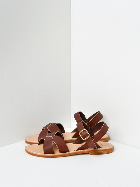 La Botte Gardiane Pac Leather Sandals - Brown