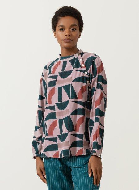Seek Collective Deva Shirt - Lavender Kyle print