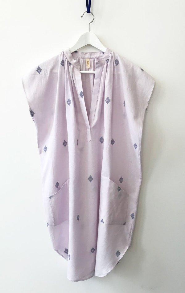 Two Khadi Pocket Tunic with metallic details - Lavender