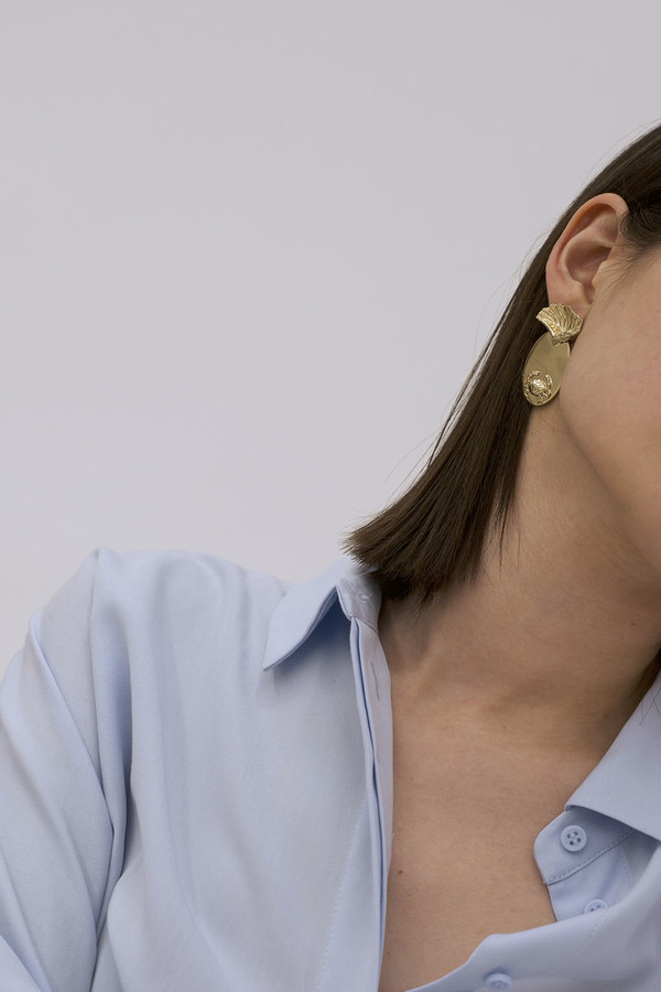 Anne Thomas Crustaces Earrings - 18k Gold Plated
