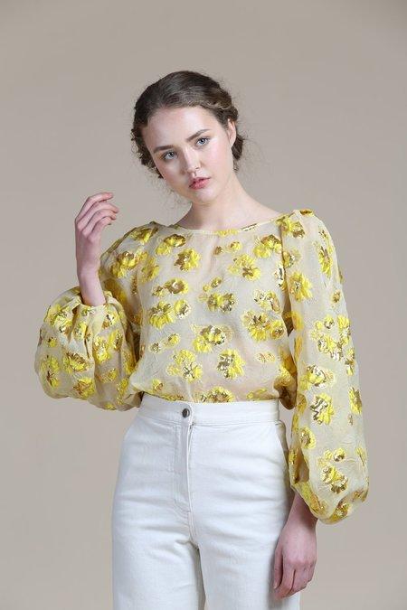 Rachel Comey Swoop Top - Yellow Floral