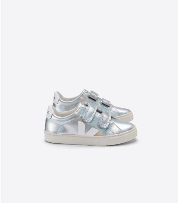 Kids Veja Junior Esplar Small Velcro - Unicorn White