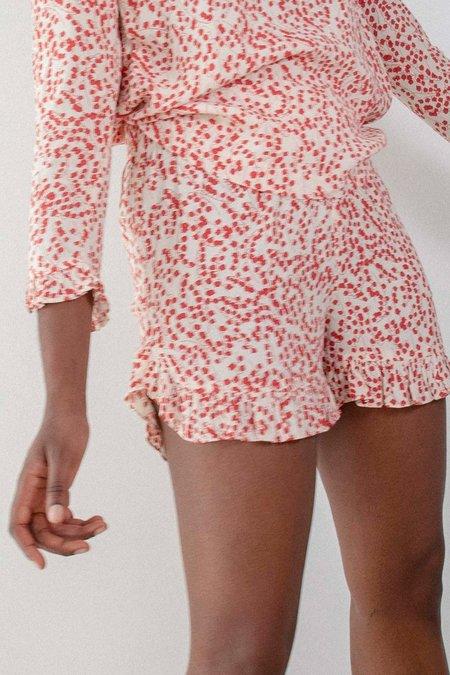 Ganni Crepe Shorts - Egret