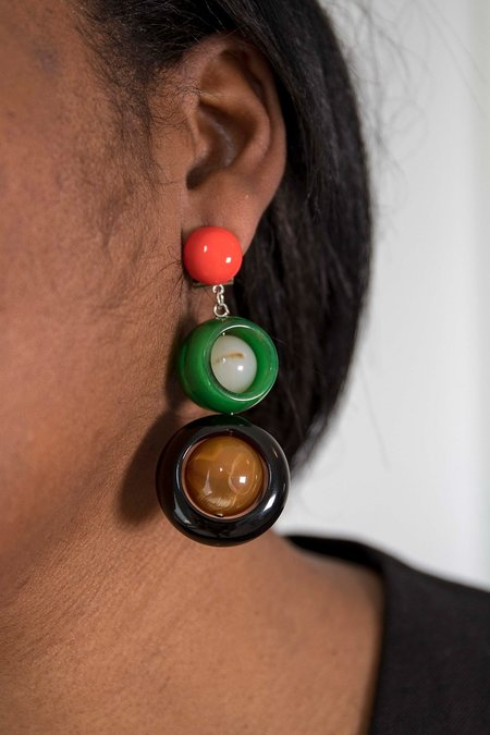 Rachel Comey Ladybird Earrings - Red/Green