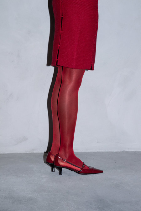 Vintage PRADA POINTED STRAP SHOES - RED